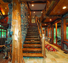 an adirondack inspired lakefront lodge style log home