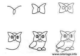 Coloriage Comment Dessiner Un Hibou Dessin Facile dessin