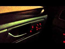2012 Volkswagen Jetta Interior 2012 Volkswagen Jetta Interior Lighting Night Start Up Youtube