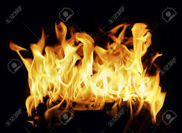 beautiful stop motion photo of a burning log in a fireplace stock