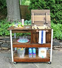 outdoor grill prep table 5 diy grilling carts the home depot blog