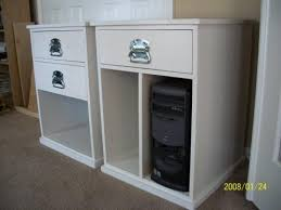 Free Wood Office Desk Plans by Ana White Build Your Own Office Narrow File Drawer Base Unit