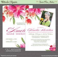 sle memorial programs memorial invitation templates cloudinvitation