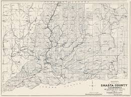 Old United States Map by Old County Map Shasta California 1904