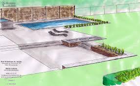 amenagement piscine exterieur croquis aux prémices du jardin conception aménagement extérieur