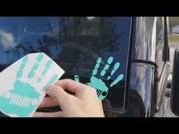 jeep wave sticker mirror jeep wave decals youtube