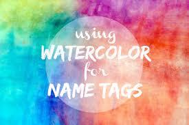 watercolor name tags weddingbee