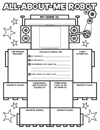 all about me robot coloring page 4th grade pinterest robot