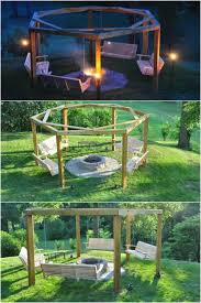 Swing Fire Pit by 10 Diy Garden Swings That Unite Beauty And Function Diy U0026 Crafts