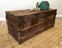 multipurpose lear steamer trunk coffee table together with drawers