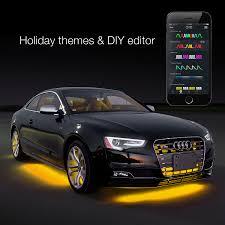 app controlled car lights 8pc 24 under glow 6pc 10 flexible strip xkchrome app control car