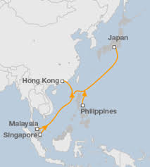 Undersea Cable Map Asia U0027s Fastest Data Cable Links Tokyo To Singapore Bbc News