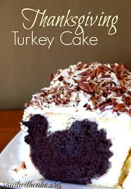 thanksgiving turkey cake with inside say it with cake