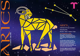 zodiac posters aries zodiac poster digital by hebb