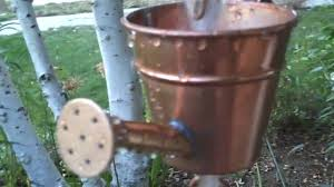 watering can rain chain youtube