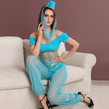 Princess Jasmine Halloween Costume Women Aliexpress Buy Women Genie Aladdin Princess Jasmine