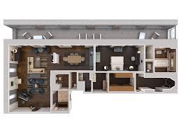 Presidential Suite Floor Plan by Modern Luxury Philadelphia Suites With An Urban Twist