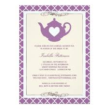 bridal shower tea party invitations purple teapot bridal shower tea party invitation card