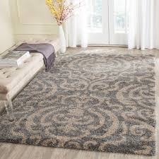 Yellow And Gray Rugs Safavieh Florida Shag Gray Beige 8 Ft 6 In X 12 Ft Area Rug