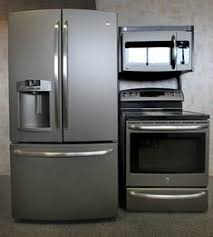 black and white appliance reno appliances slate finish ge it s not black not white and not