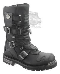 96035 Harley Davidson Mens Axel Black Leather High Cut Boot