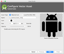 how to import set of icons into android studio project stack
