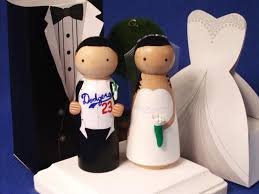 dodgers sports theme wedding cake topper choose your team custom