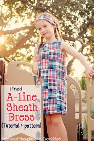 pattern a line shift dress girl s a line sheath dress tutorial and pdf pattern in sizes 3 7
