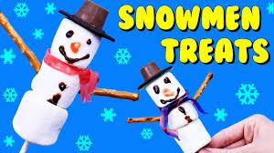 marshmallow snowmen christmas treats dessert diy easy kid cookies