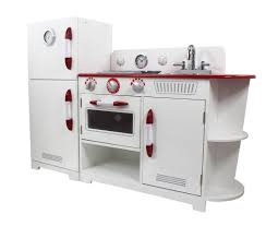 Play Kitchen Red Teamson Kids Classic Play Kitchen White U0026 Red 2 Piece U2013 Our