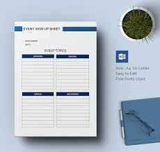 Event Sign Up Sheet Template Free Sign Up Sheets 60 Free Word Excel Pdf Documents