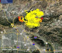 Wildfire Map La Fire Station Map My Blog