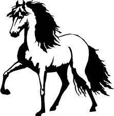 mustang horse silhouette horse 0 00 fast vinyl decals show off what speaks to you
