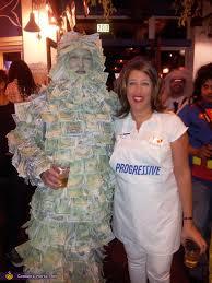 Money Halloween Costume Geico Money Man Flo Progressive Couple Halloween Costume