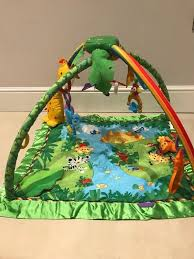 fisher price rainforest music and lights deluxe gym playset fisher price rainforest music and lights deluxe gym in bournemouth