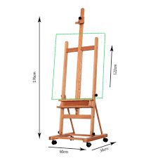portable artist durable wooden easel 360 h frame w caster painters