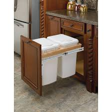 Kitchen Cabinet Pullouts Under Counter Trash Can Revashelf 27quart Plastic Pull Out Trash