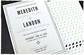 Black And White Invitation Card Hudson Wedding Invitation Suite Smitten On Paper
