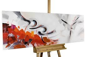 Schlafzimmerm El Rot Handgemaltes Acrylgemälde In Rot Kaufen Kunstloft