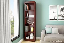 Narrow Bookcase With Drawers by Amazon Com South Shore Axess Collection 5 Shelf Narrow Bookcase