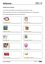 plural worksheet worksheets