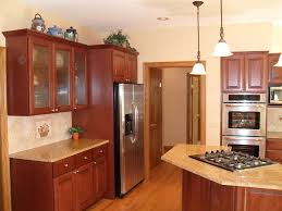 decor enchanting kitchen refacing ideas with brown kitchen