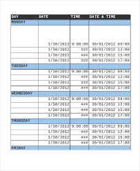 13 sample excel schedule templates free example format free