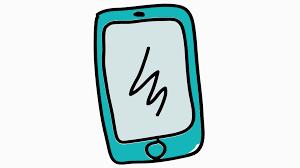 smart phone icon cartoon illustration hand drawn animation