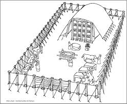 tabernacle coloring pages free eson me