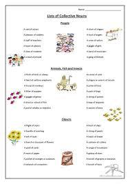 36 free esl nouns collective nouns team class family