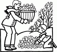 boy men clean garden coloring kids colouring pages