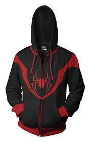 ultimate spiderman miles morales hoodie prathik
