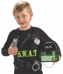 kids swat halloween costume amazon com young heroes child u0027s s w a t team costume small