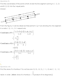 answers ncert solutions for class 10 maths chapter 7 coordinate
